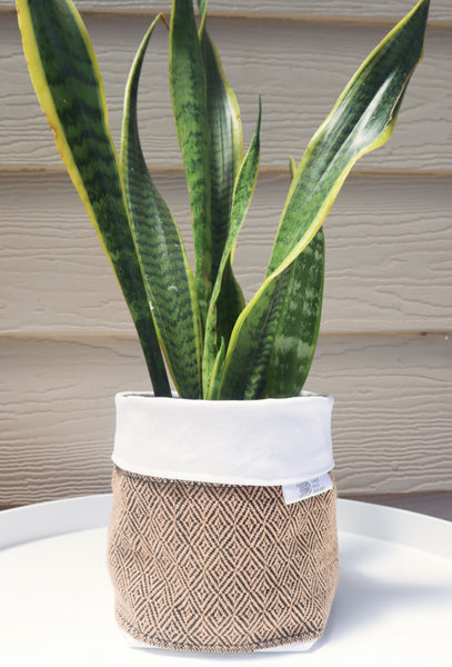 Fabric Plant Holder - Oatmeal