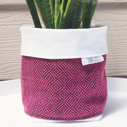Fabric Plant Holder - Pink