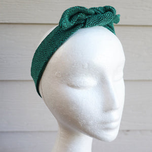 Emerald Handwoven Hair Scarf - Threefold Designs