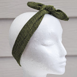 Chartreuse Handwoven Hair Scarf - Threefold Designs