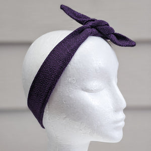 Purple Handwoven Hair Scarf - Threefold Designs
