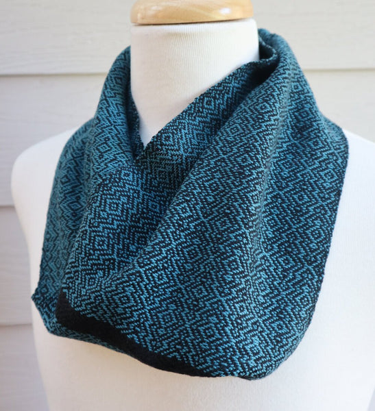 Handwoven Scarf - Cravat - Blue Overground - Threefold Designs