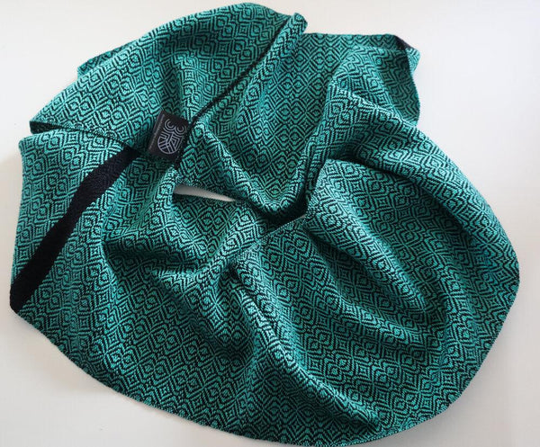 Handwoven Scarf - Classic Jade Green Baroque - Threefold Designs