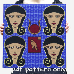 Cross Stitch PDF Pattern - Hathor