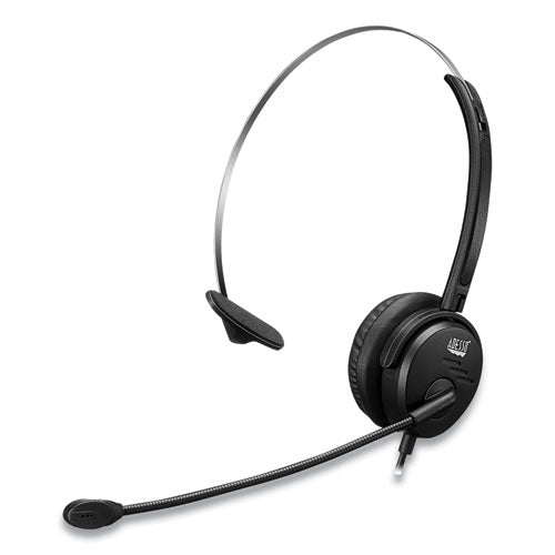 Xtream P1 Usb Wired Multimedia Headset With Microphone, Monaural Over The Head, Black