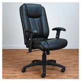 Alera Cc Series Executive High-back Swivel-tilt Leather Chair, Supports Up To 275 Lbs., Black Seat-black Back, Black Base