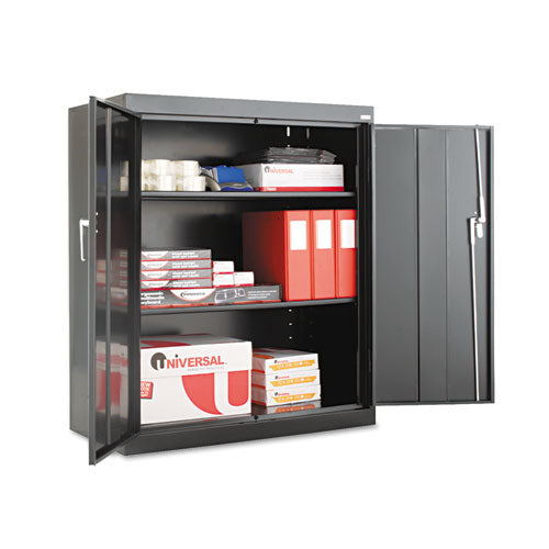 "Assembled 42"" High Storage Cabinet, W-adjustable Shelves, 36w X 18d, Black"