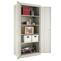 "Assembled 42"" High Storage Cabinet, W-adjustable Shelves, 36w X 18d, Light Gray"