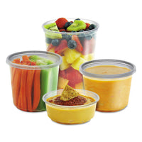 Microlite Deli Tub Lid, Clear, Inside-cap Fit, Fits 8-32 Oz Containers, 500-carton