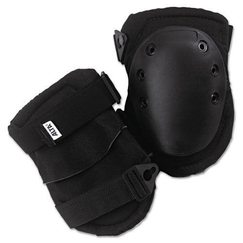 Altalok Knee Pads, Fastener Closure, Neoprene-nylon, Rubber, Black