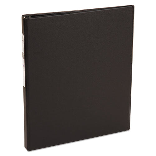 "Economy Non-view Binder With Round Rings, 3 Rings, 0.5"" Capacity, 11 X 8.5, Black, (3201)"