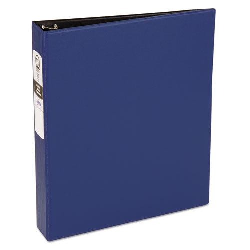 "Economy Non-view Binder With Round Rings, 3 Rings, 1.5"" Capacity, 11 X 8.5, Blue, (3400)"