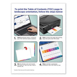 Customizable Toc Ready Index Multicolor Dividers, 8-tab, Letter