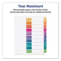 Customizable Toc Ready Index Multicolor Dividers, 10-tab, Letter, 6 Sets