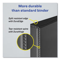 "Durable Non-view Binder With Durahinge And Slant Rings, 3 Rings, 1"" Capacity, 11 X 8.5, Black"