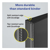 "Durable Non-view Binder With Durahinge And Slant Rings, 3 Rings, 2"" Capacity, 11 X 8.5, Black"