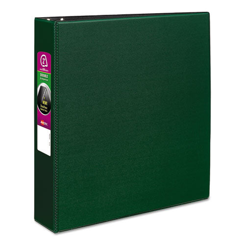 "Durable Non-view Binder With Durahinge And Slant Rings, 3 Rings, 2"" Capacity, 11 X 8.5, Green"