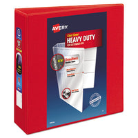 "Heavy-duty View Binder With Durahinge And Locking One Touch Ezd Rings, 3 Rings, 3"" Capacity, 11 X 8.5, Red"