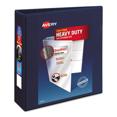 "Heavy-duty View Binder With Durahinge And Locking One Touch Ezd Rings, 3 Rings, 3"" Capacity, 11 X 8.5, Navy Blue"