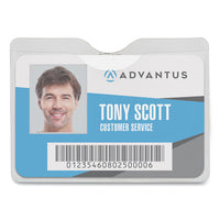Security Id Badge Holder With Clip, Horizontal, 3.5 X 3.75, Clear, 50-box