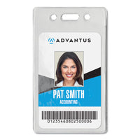 Proximity Id Badge Holder, Vertical, 2.68 X 4.38, Clear, 50-pack