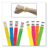 Crowd Management Wristbands, Sequentially Numbered, 9 3-4 X 3-4, Blue, 500-pack
