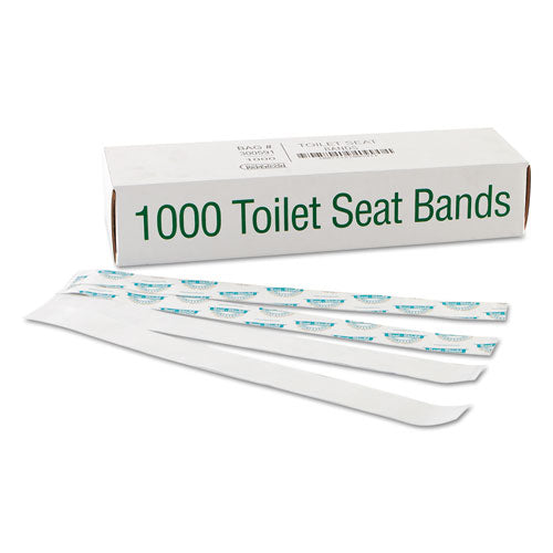Sani-shield Printed Toilet Seat Band, 16 X 1.5, Deep Blue-white, 1,000-carton