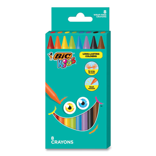 Kids Coloring Crayons, 8 Assorted Colors, 8-pack