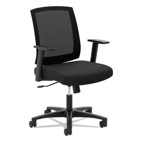 Torch Mesh Mid-back Task Chair, Supports Up To 250 Lbs., Black Seat-black Back, Black Base