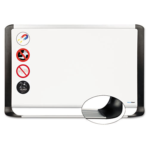 Porcelain Magnetic Dry Erase Board, 48x72, White-silver