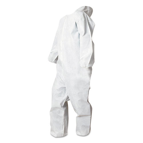 Disposable Coveralls, White, Medium, Polypropylene, 25-carton