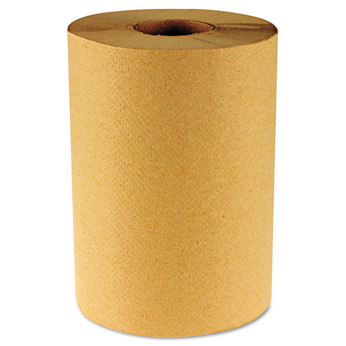 Hardwound Paper Towels, Nonperforated 1-ply Natural, 800 Ft, 6 Rolls-carton