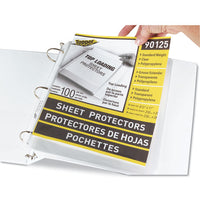 "Top-load Polypropylene Sheet Protectors, Standard, Letter, Clear, 2"", 100-box"