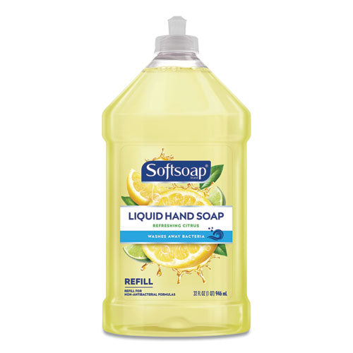Liquid Hand Soap Refill, Refreshing Citrus, 32 Oz Bottle, 9-carton