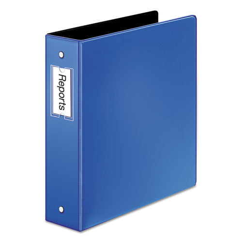 "Premier Easy Open Locking Round Ring Binder, 3 Rings, 2"" Capacity, 11 X 8.5, Medium Blue"