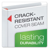 "Xtralife Clearvue Non-stick Locking Slant-d Ring Binder, 3 Rings, 1"" Capacity, 11 X 8.5, White"