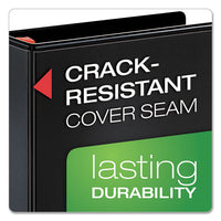 "Xtralife Clearvue Non-stick Locking Slant-d Ring Binder, 3 Rings, 1"" Capacity, 11 X 8.5, Black"