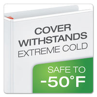 "Xtralife Clearvue Non-stick Locking Slant-d Ring Binder, 3 Rings, 3"" Capacity, 11 X 8.5, White"