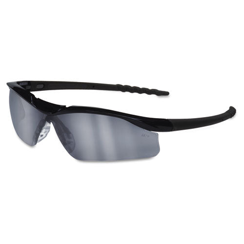 Dallas Wraparound Safety Glasses, Black Frame, Gray Indoor-outdoor Lens