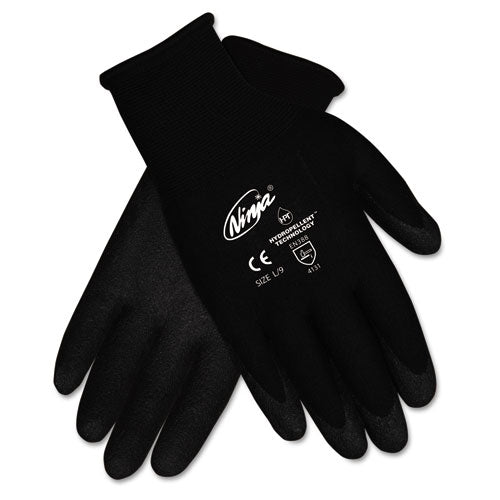 Ninja Hpt Pvc Coated Nylon Gloves, Medium, Black, 12 Pair-box