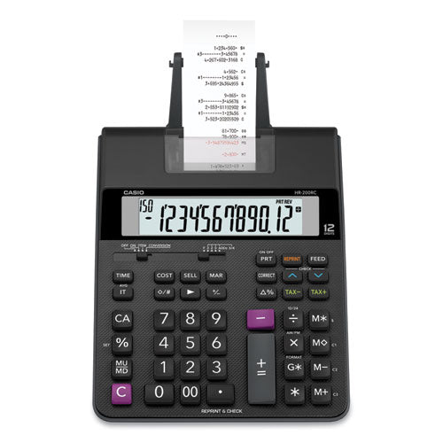 Hr200rc Printing Calculator, 12-digit, Lcd