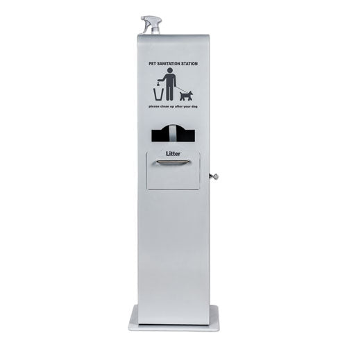 Indoor Pet Sanitation Station, 15.5 X 16 X 51, Silver Metallic
