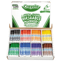 Ultra-clean Washable Marker Classpack, Broad Bullet Tip, Assorted Colors, 200-box