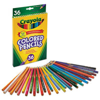 Long-length Colored Pencil Set, 3.3 Mm, 2b (#1), Assorted Lead-barrel Colors, 24-pack