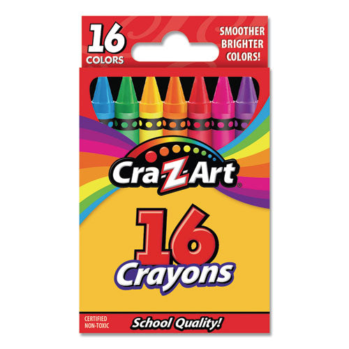 Crayons, 16 Assorted Colors, 16-set