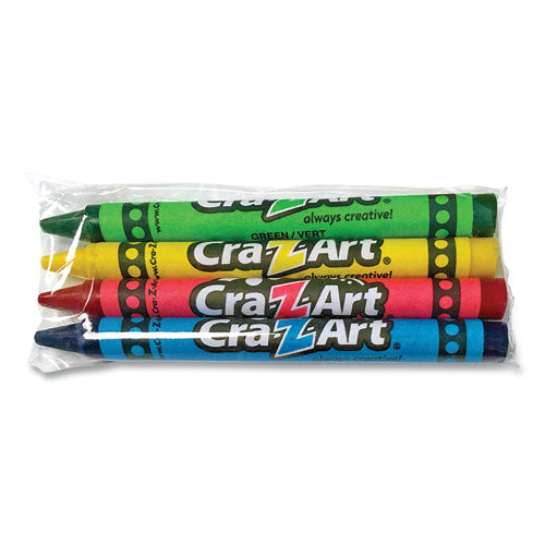 Washable Crayons, Assorted, 4-pack