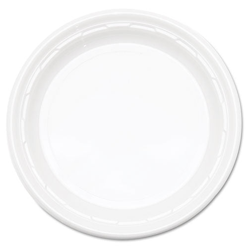 "Famous Service Plastic Dinnerware, Plate, 9"", White, 125-pack, 4 Packs-carton"