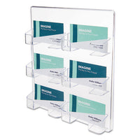 8-pocket Business Card Holder, 400 Card Cap, 7 7-8 X 3 3-8 X 3 1-2, Clear