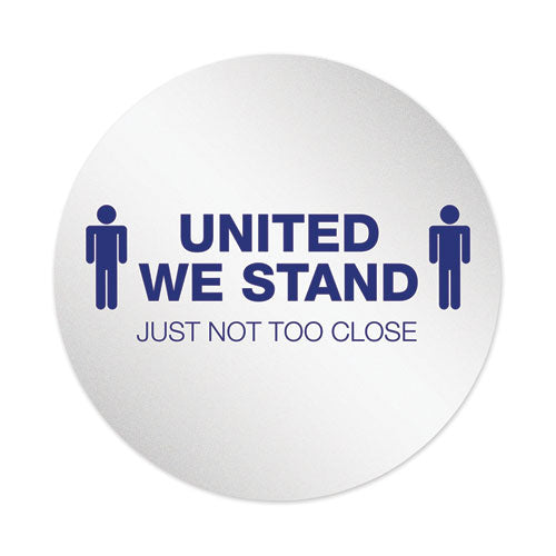 "Personal Spacing Discs, United We Stand, 20"" Dia, White-blue, 6-pack"