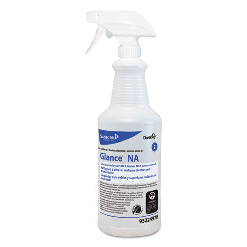 Glance Na Spray Bottle, 32 Oz, Clear, 12-carton